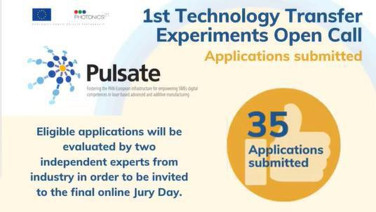 The 1st PULSATE's Open Call for Technology Transfer Experiments is now closed