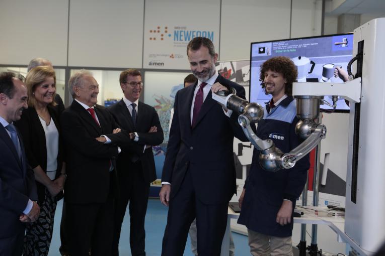 Su Majestad el Rey preside el acto conmemorativo del 50 aniversario de AIMEN Centro Tecnológico