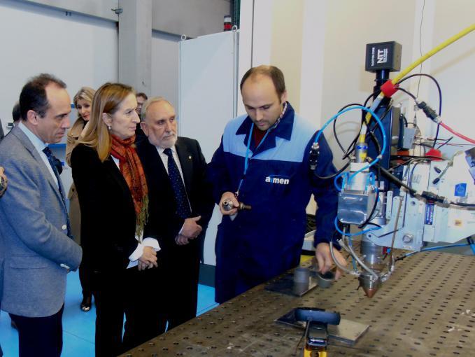 La presidenta del Congreso de los Diputados, Ana Pastor, visita AIMEN Centro Tecnológico